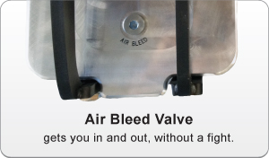 image of air bleed valve on a screen box lid